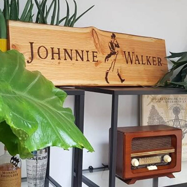 Johnnie Walker bord | Houten bord Johnnie Walker 100cm