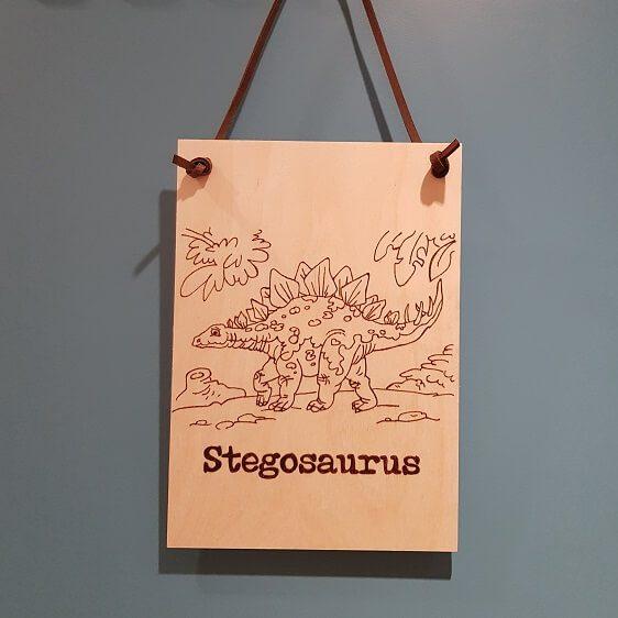 Houten miniposter