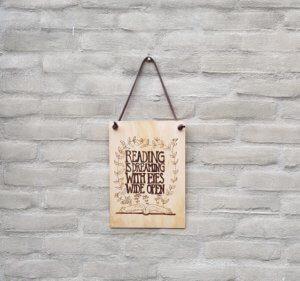 houten miniposter quote