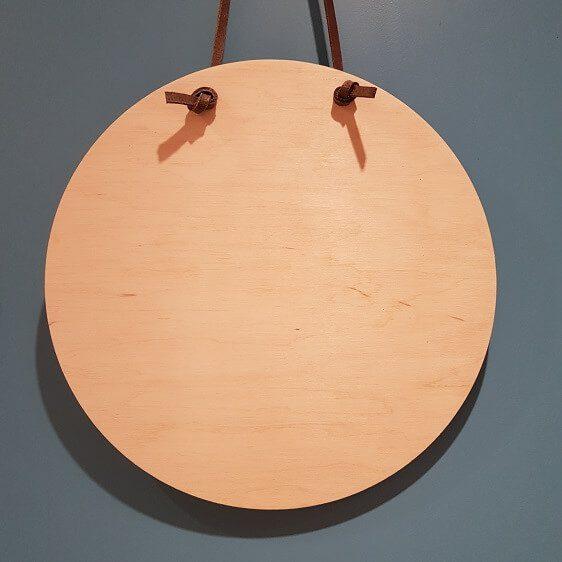 Ronde houten schijf-wandhanger