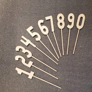 Caketopperset cijfers