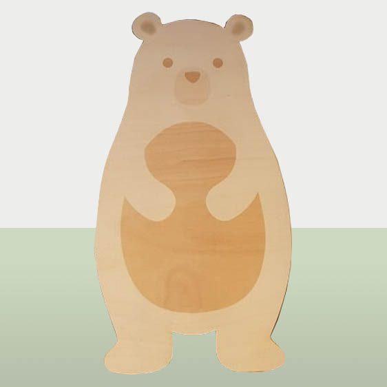Dieren in het bos - Houten beer voor de kinderkamer