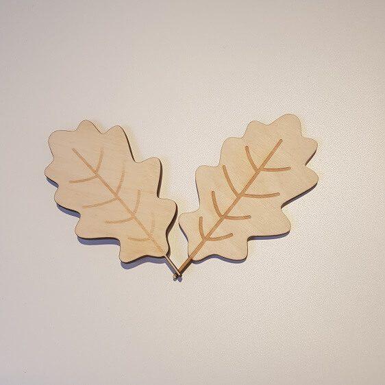 houten blaadjes