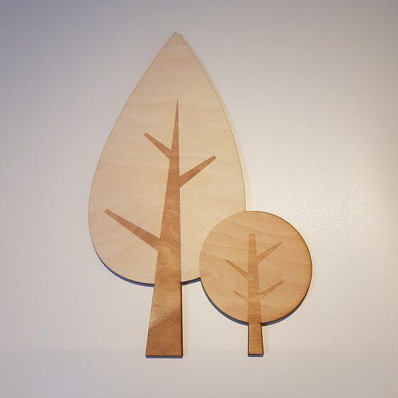 houten bomenset