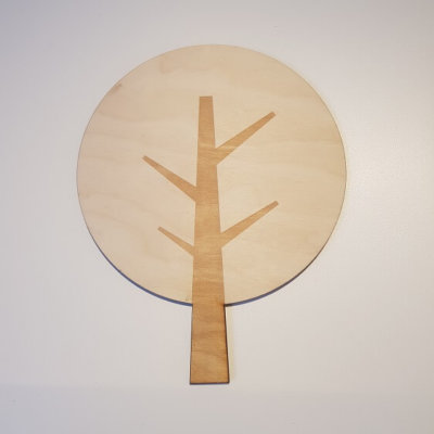 houten boom rond