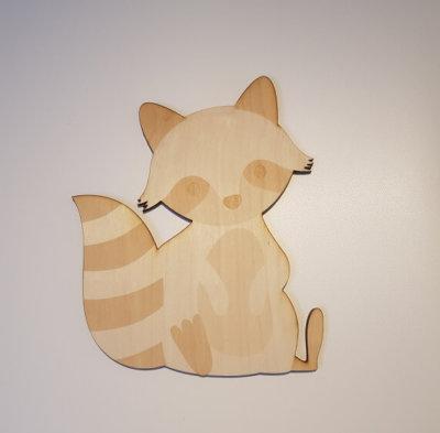 houten wasbeer