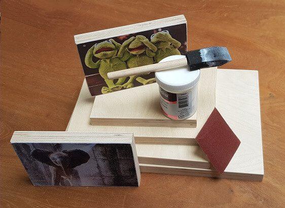 Workshoppakket foto op hout