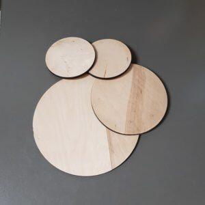 Set houten cirkels blanco