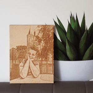 houten poster foto