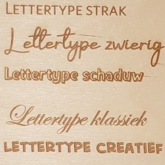 Lettertypes Handmade Hout
