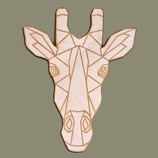 Houten giraffe-Houten safaridieren voor de kinderkamer