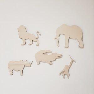 muurdecoratie wilde dieren